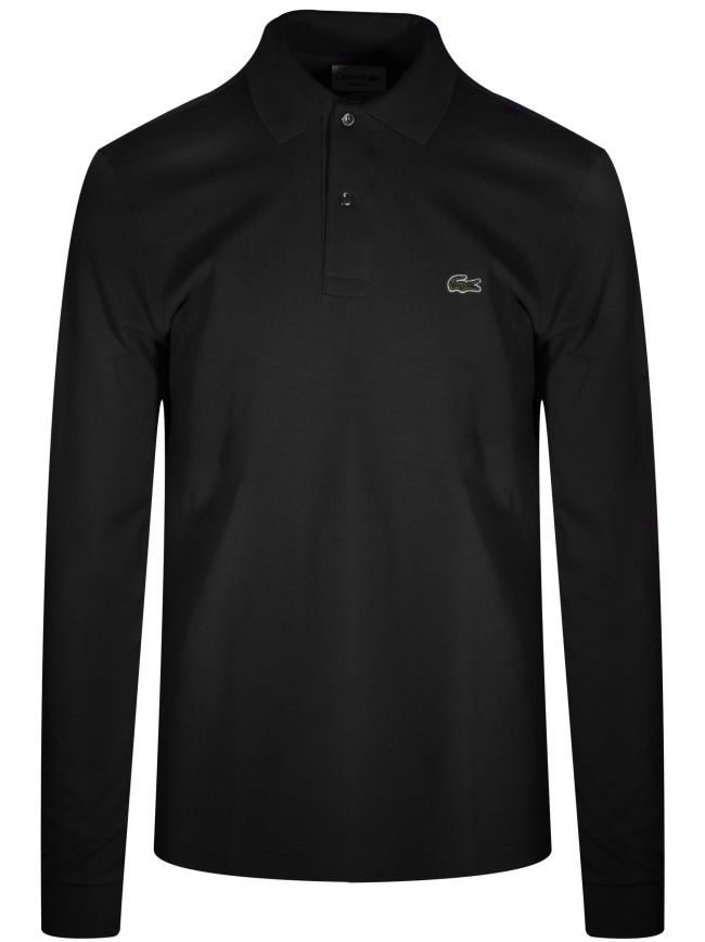 Classic L1312 Black Long-Sleeved Polo Shirt