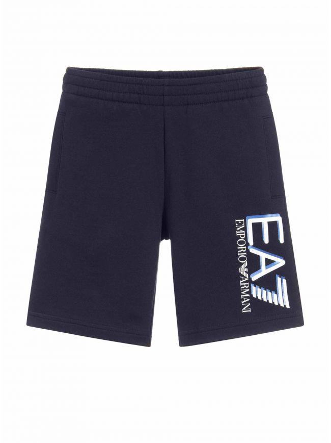 EA7 Kids Navy Big Logo Shorts
