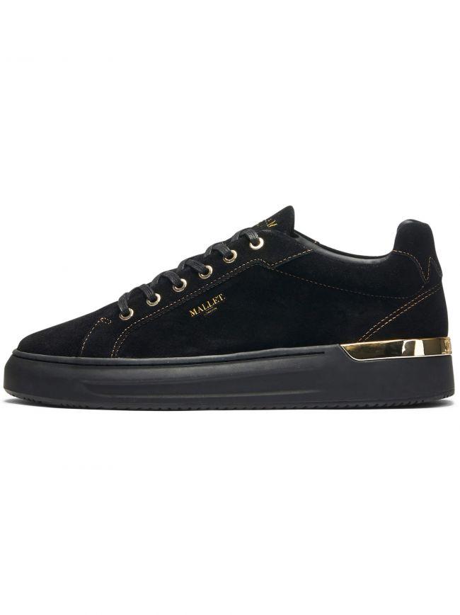 Black & Gold Suede GRFTR Sneaker