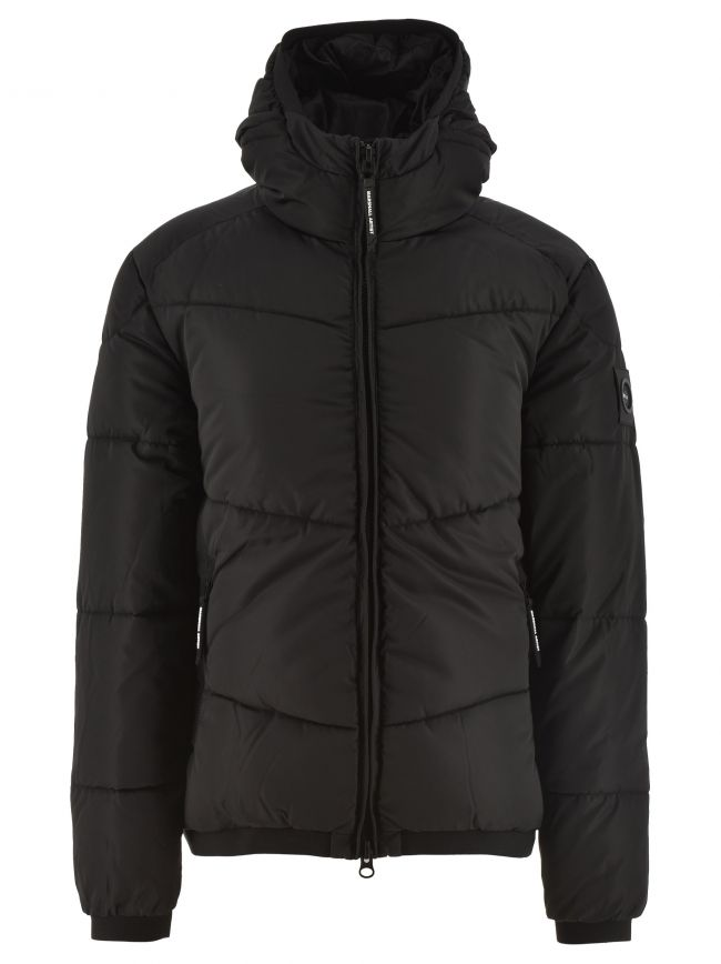 Black Paninaro Bubble Jacket