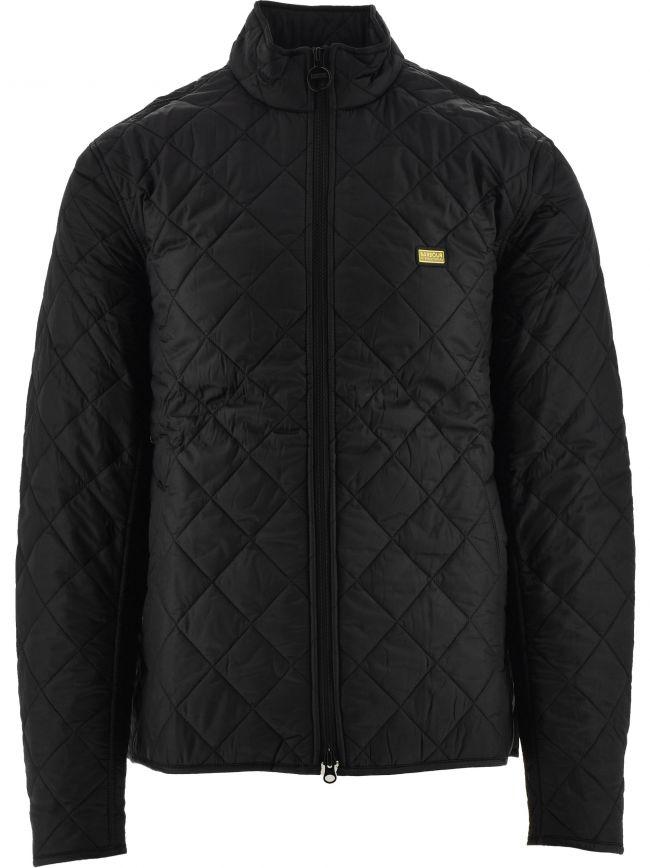 Black Gear Quilt Jacket