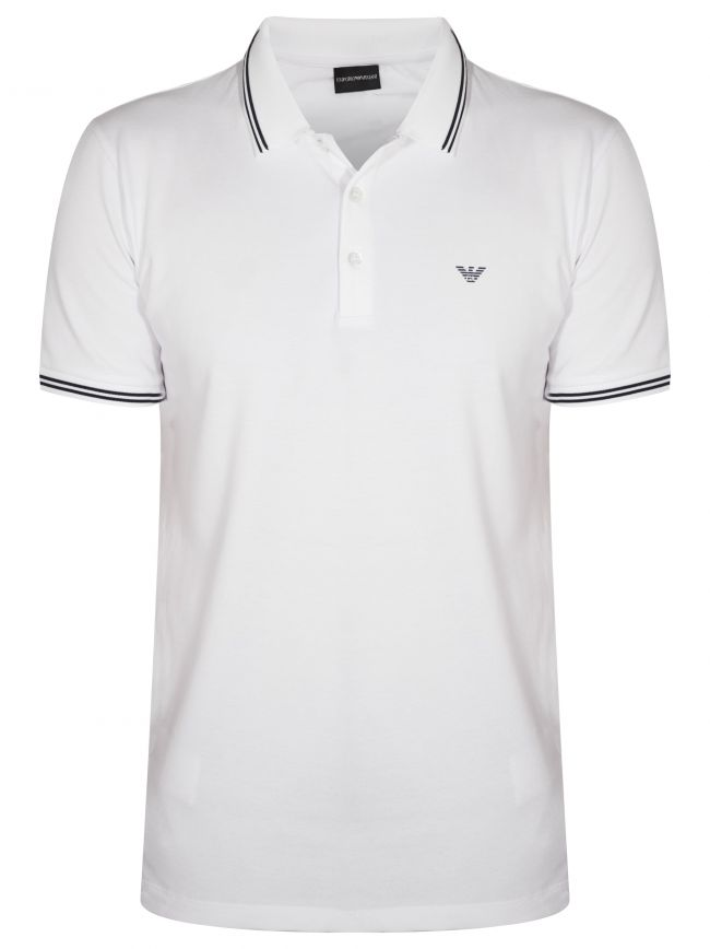 White & Blue Polo Shirt