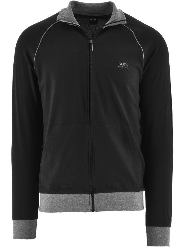 Black Mix and Match Zipped Sweatshirt