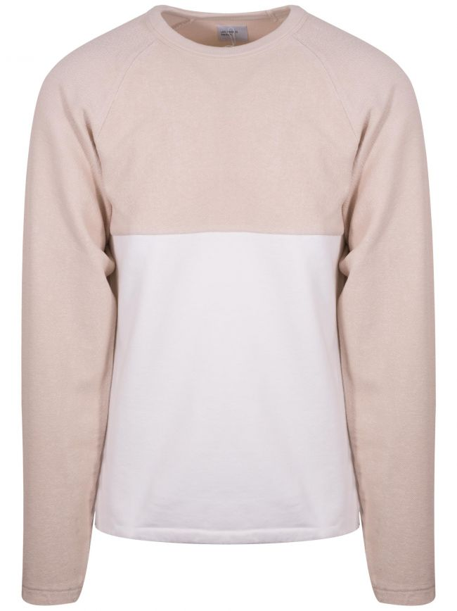 Biege & White Le Ribless Sweat