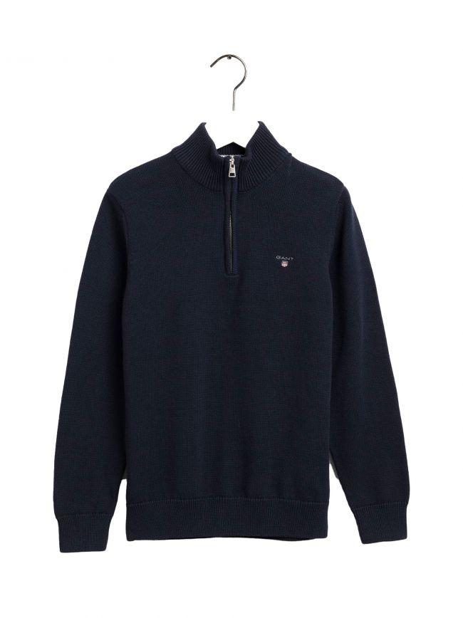 Blue Half Zip Sweatshirt