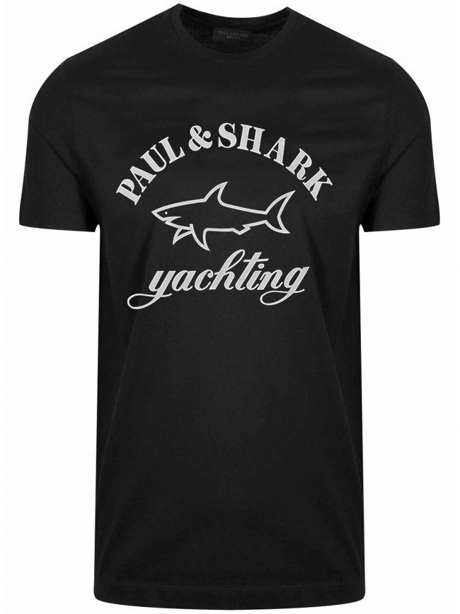 Black Print Logo T-Shirt