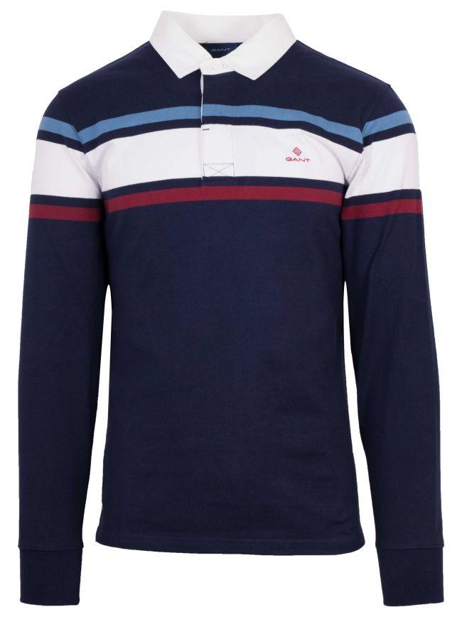 Navy Blue Rugger Polo Shirt