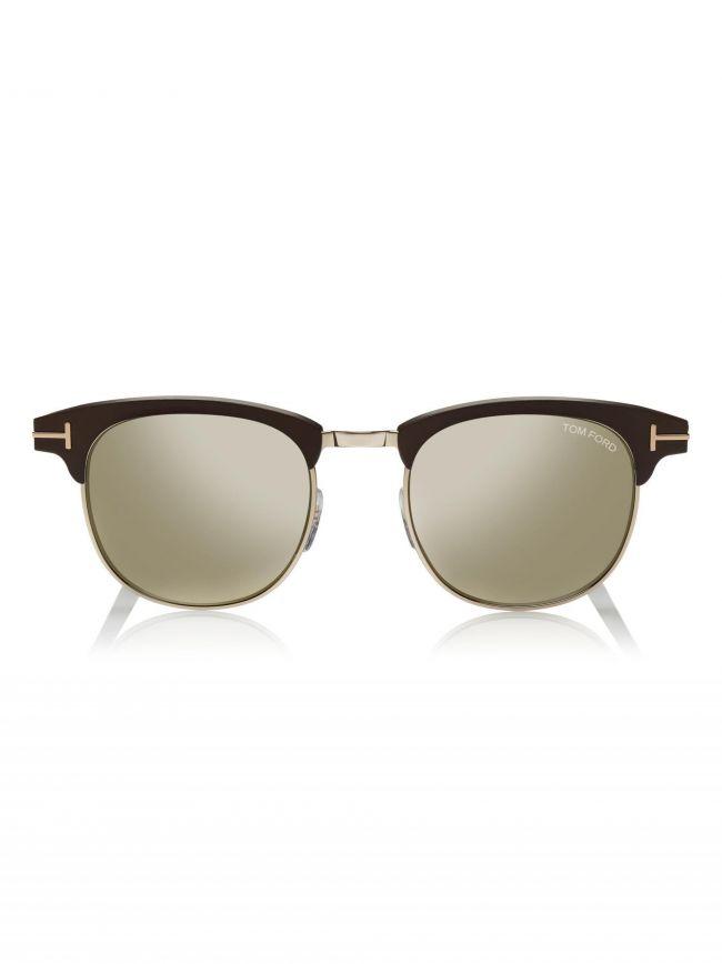 Dark Brown Mirror Lens Laurent Sunglasses