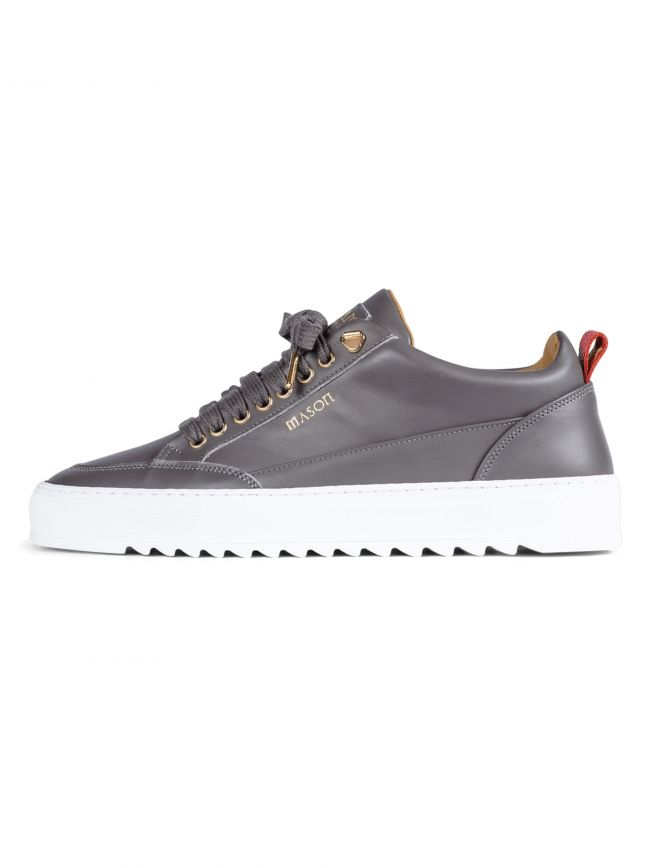 Grey Leather Tia Sneaker