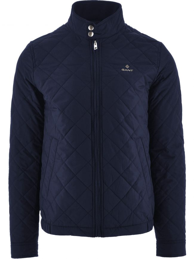 Blue Quilted Windcheater Jacket