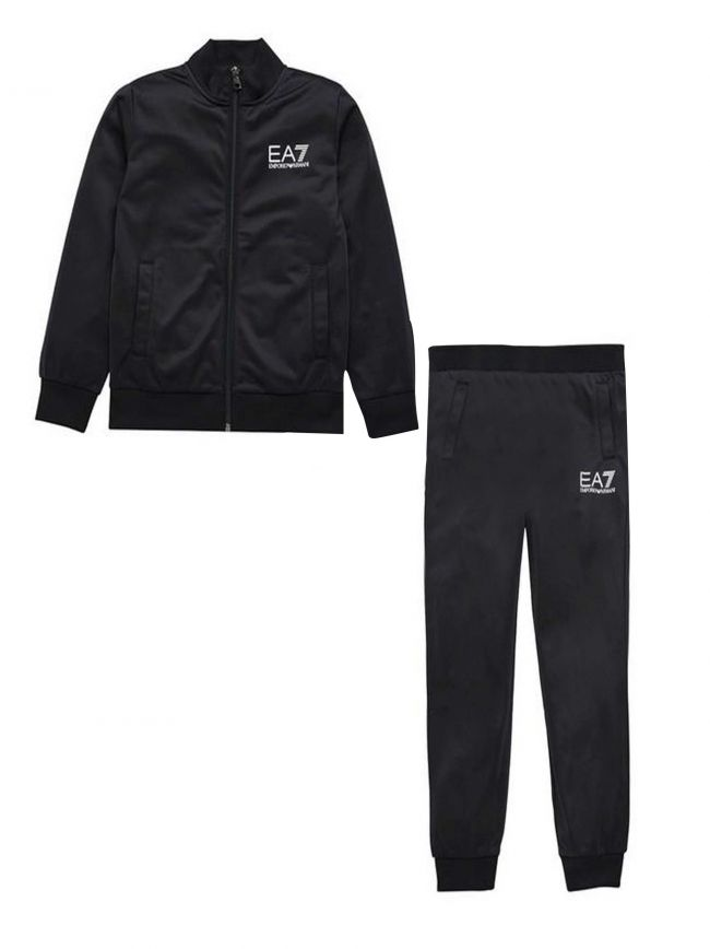 Black Polyester Tracksuit