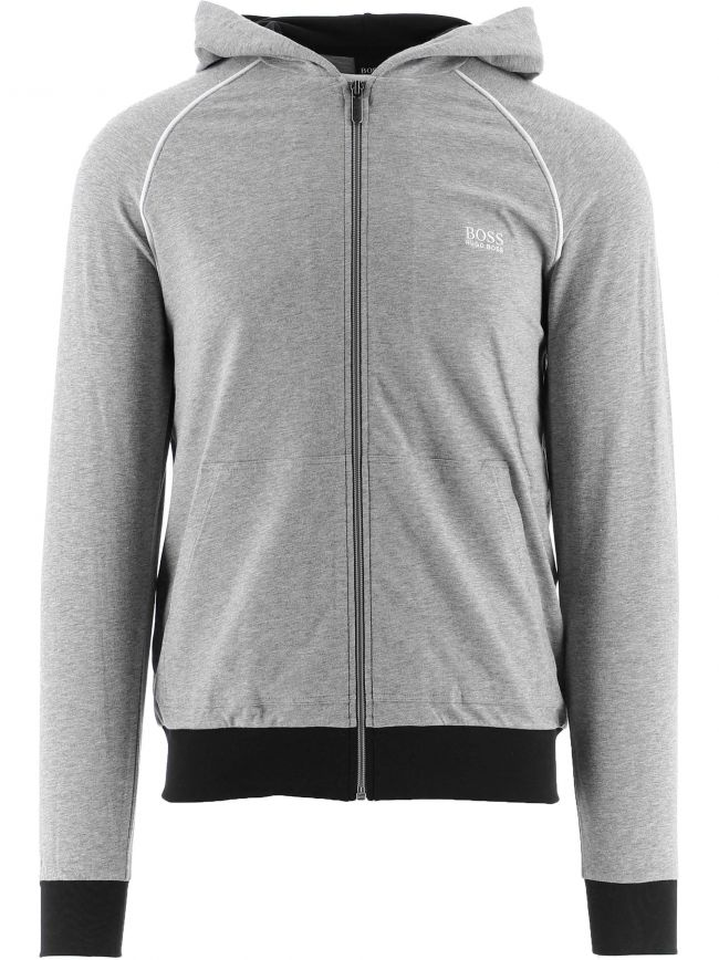 Grey Mix and Match Hooded Jacket