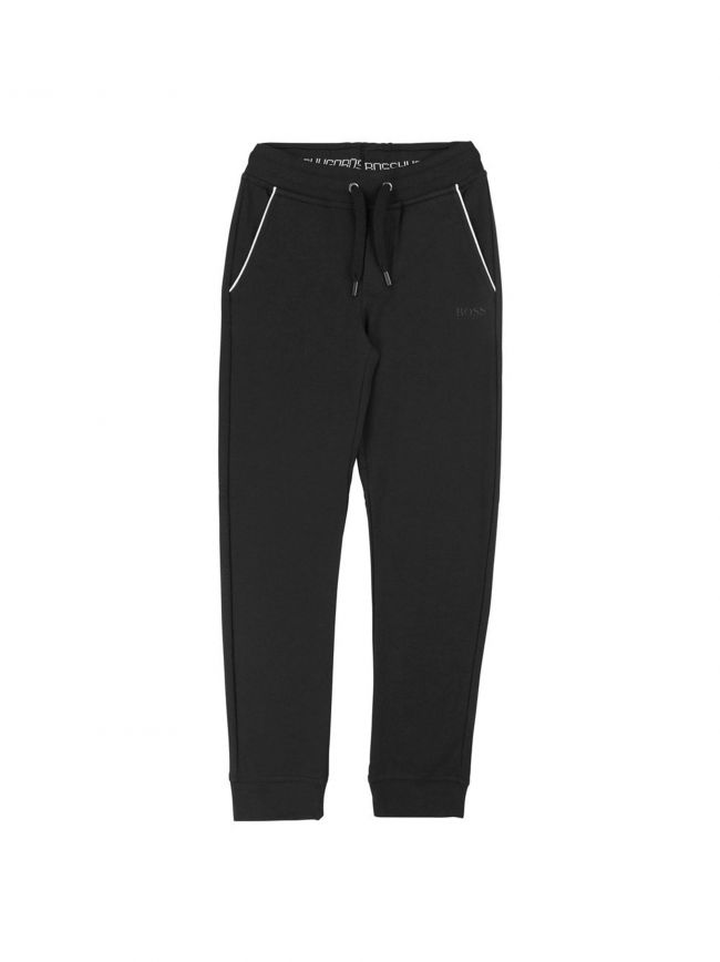 Black Cotton Tracksuit Pants