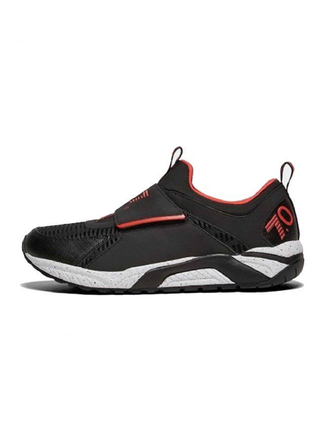 7.0 Racer Black & Red Velcro Trainer