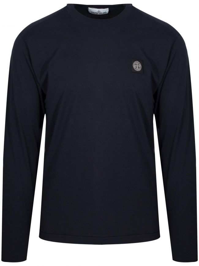 Navy Patch Long Sleeve T-Shirt