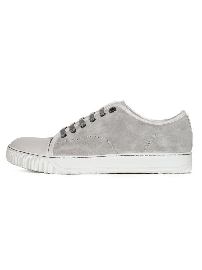 Cement Grey Suede Toe Cap Sneakers