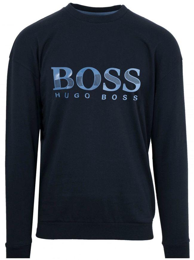 Navy Rubber Logo Sweatshirt