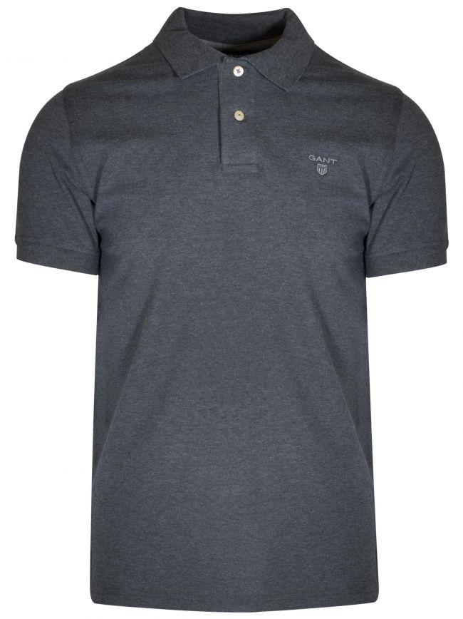 Anthracite Melange Contrast Polo Shirt