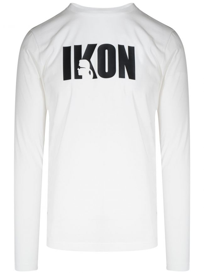 White IKON Long Sleeve T-Shirt