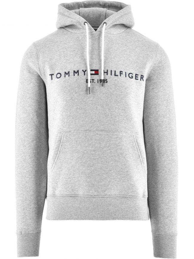Grey Core Tommy Logo Hoody