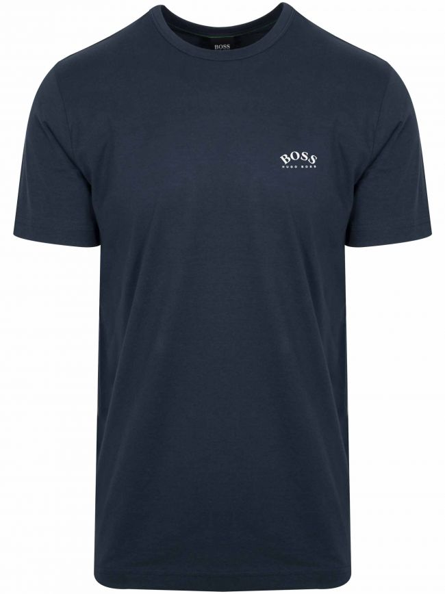 Navy Tee Curved T Shirt