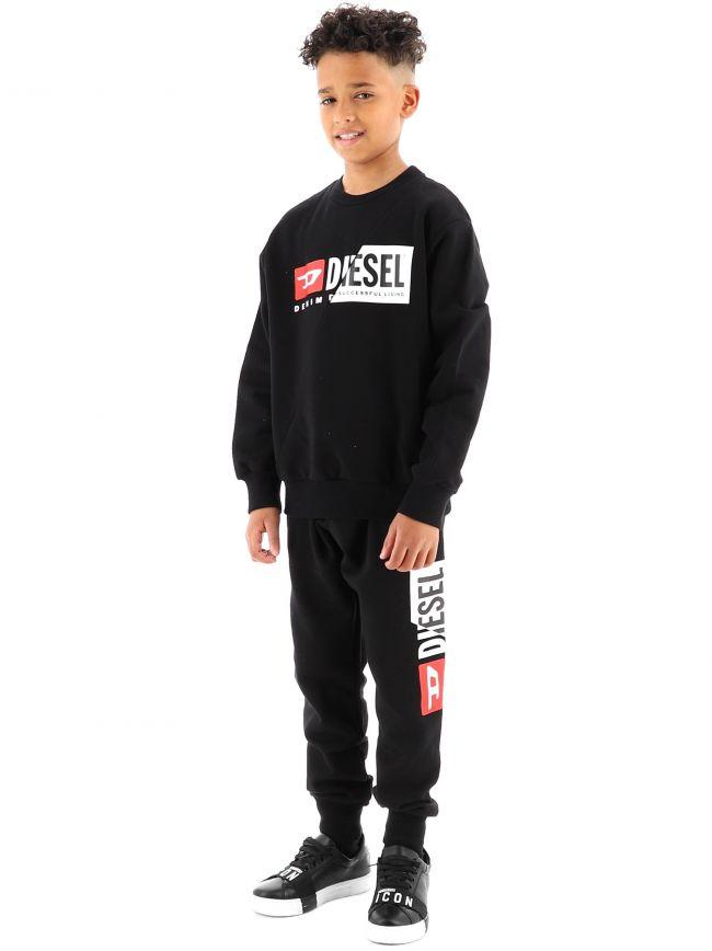 Diesel Kids Black PCuty Jogging Pant