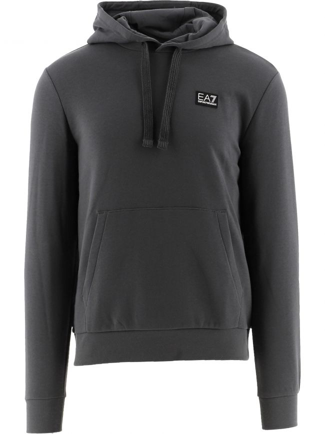Grey Crew Neck Hooded Sweatshirt