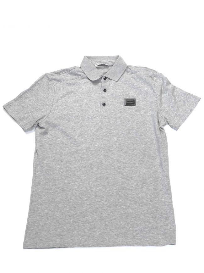 Antony Morato Kids Grey Plaque Short Sleeve Polo Shirt