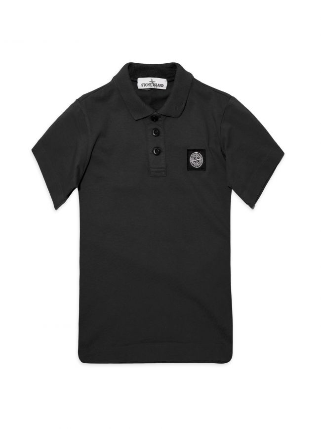 Black Jersey Cotton Polo Shirt