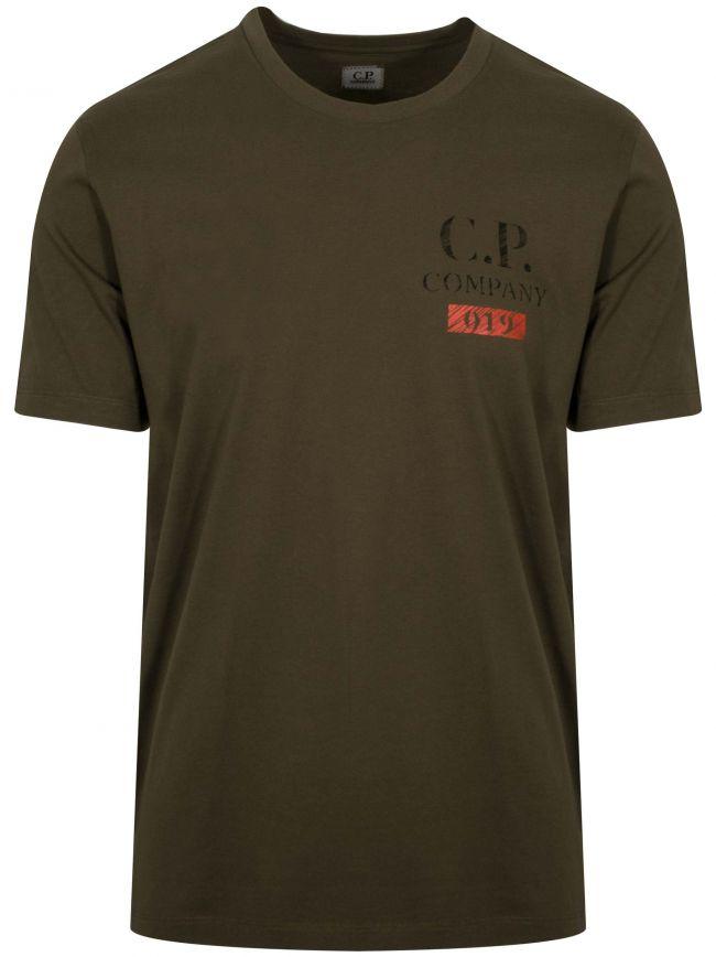 Khaki Print Logo T-Shirt
