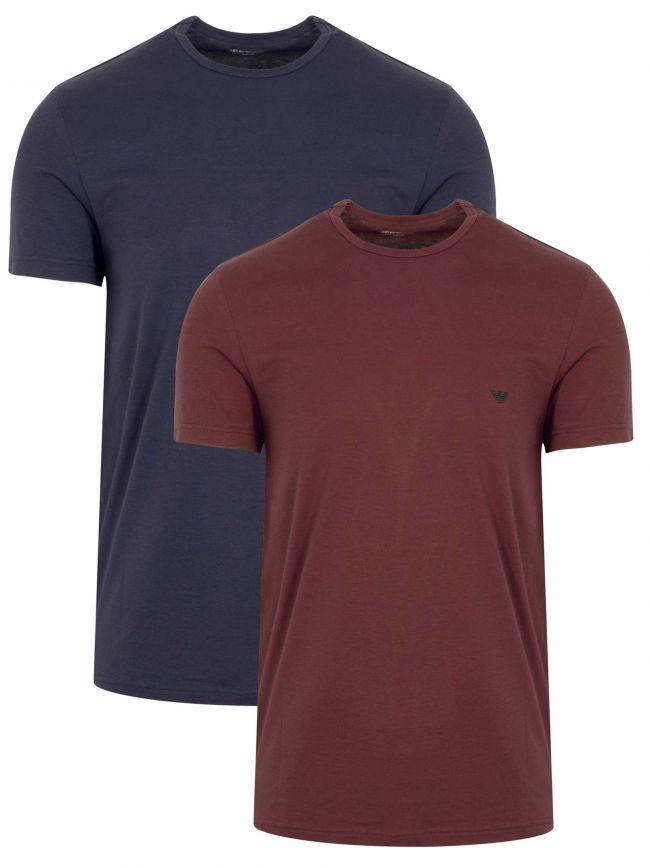 Navy & Burgundy 2-Pack Short-Sleeved T-Shirt