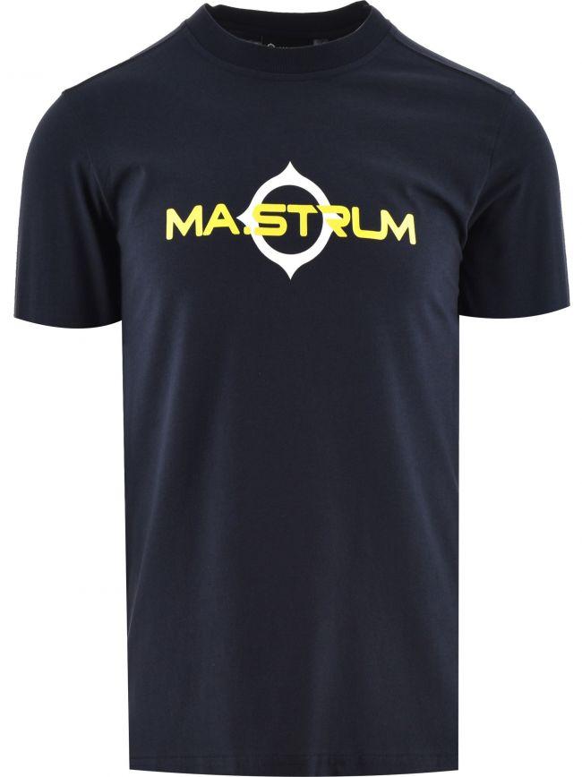 Navy Short Sleeve Logo Print T-Shirt
