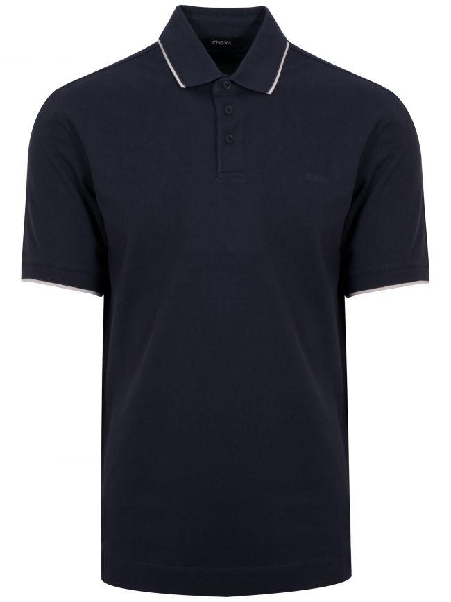 Navy Short Sleeved Polo Shirt