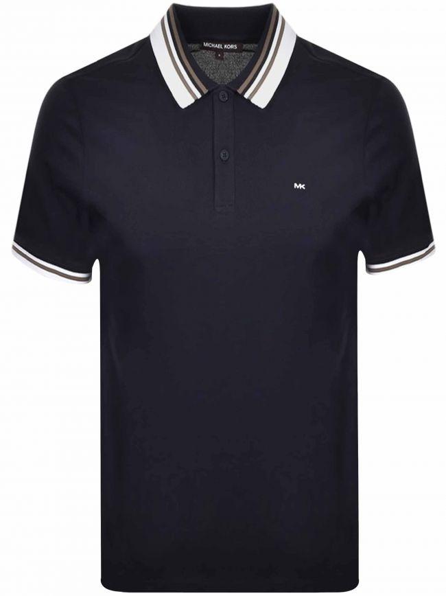 Navy Blue Short-Sleeve Polo Shirt
