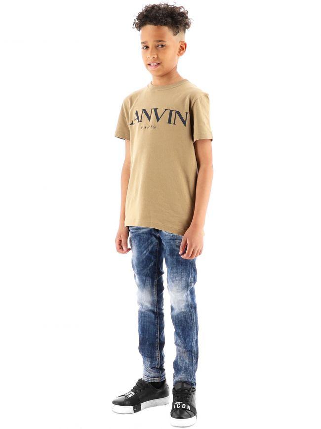 Lanvin Kids Logo Cotton T-Shirt