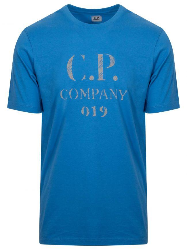 Blue Reflective Logo T-Shirt
