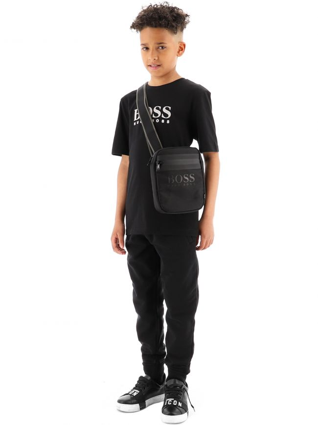 BOSS Kids Black Small Bag