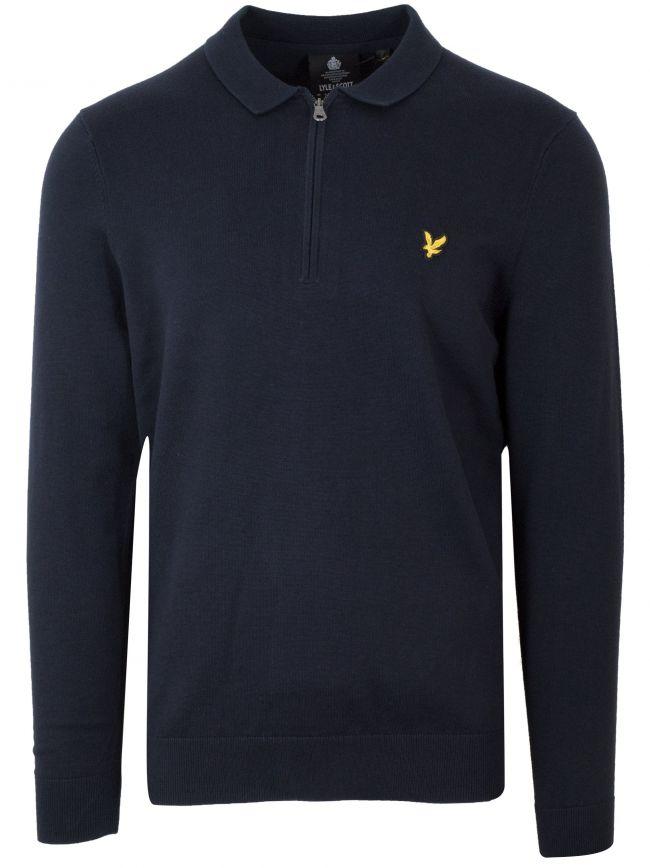 Dark Navy Half Zip Sweatshirt