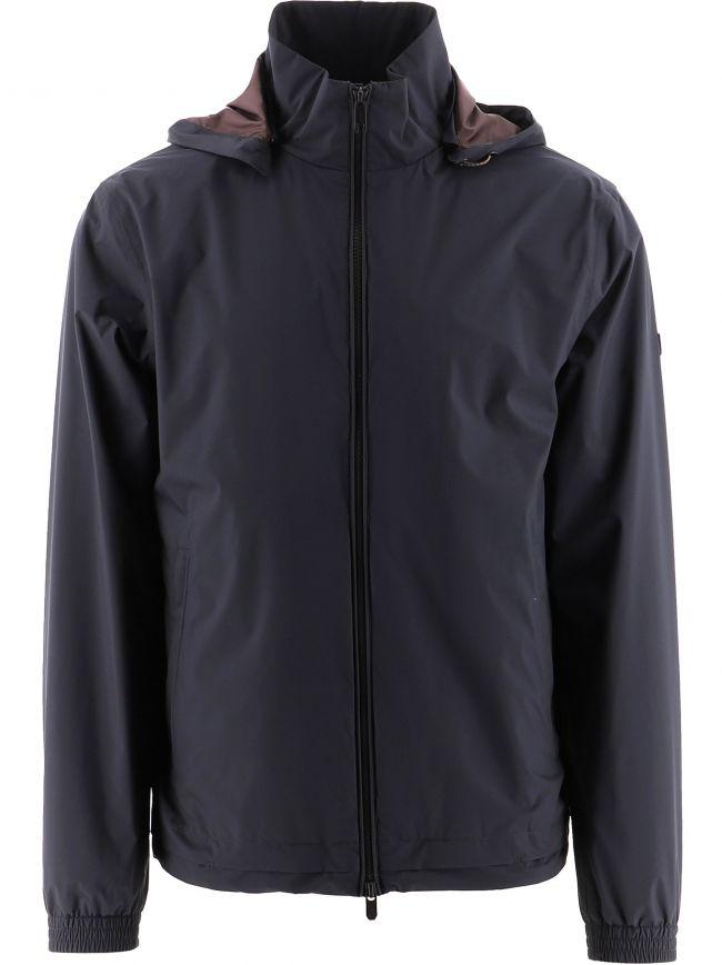 Navy Hooded Windcheater Jacket