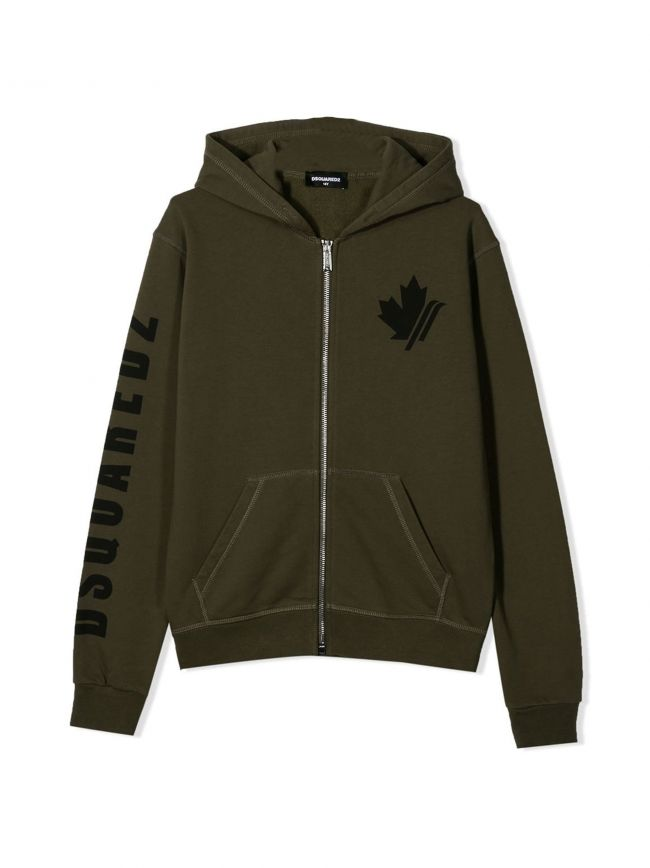 Khaki Hooded Sweatshirt
