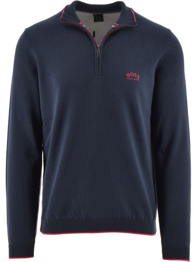 Navy Ziston Quarter Zip Sweater