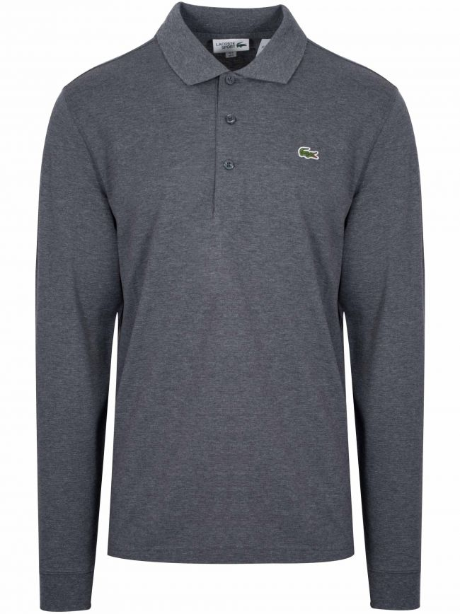 L1330 Grey Long Sleeved Polo Shirt