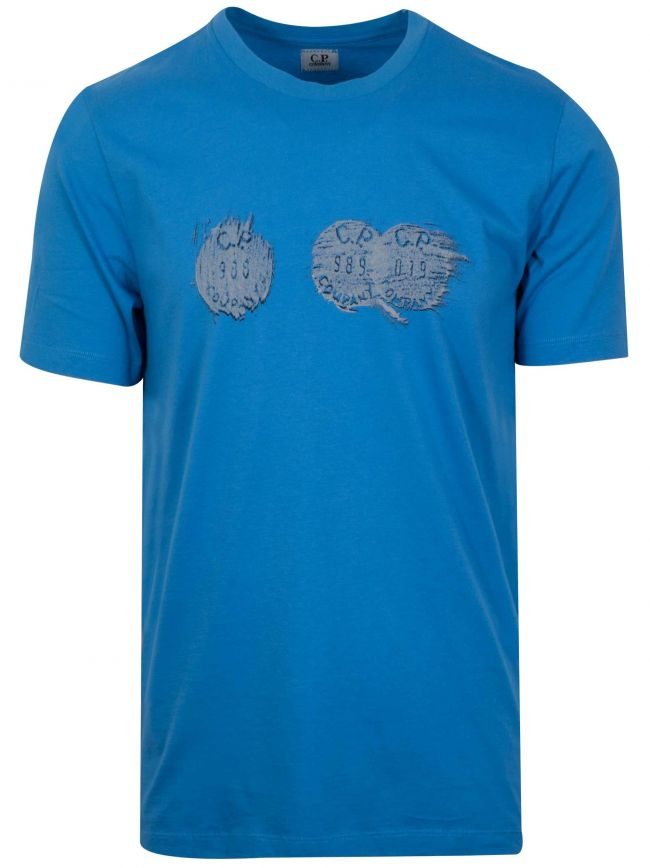 Sky Blue Circle Logo T-Shirt