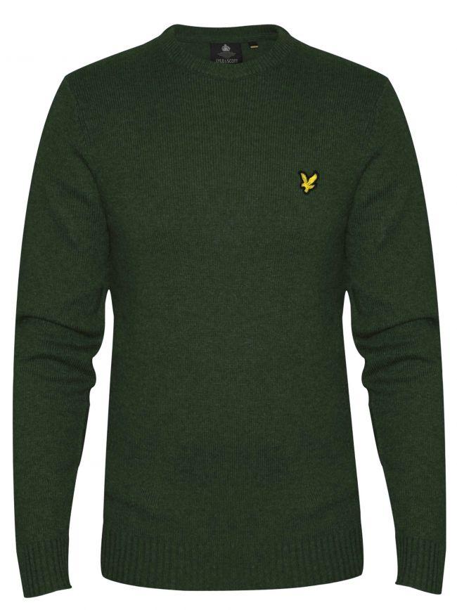 Green Marl Merino Sweatshirt