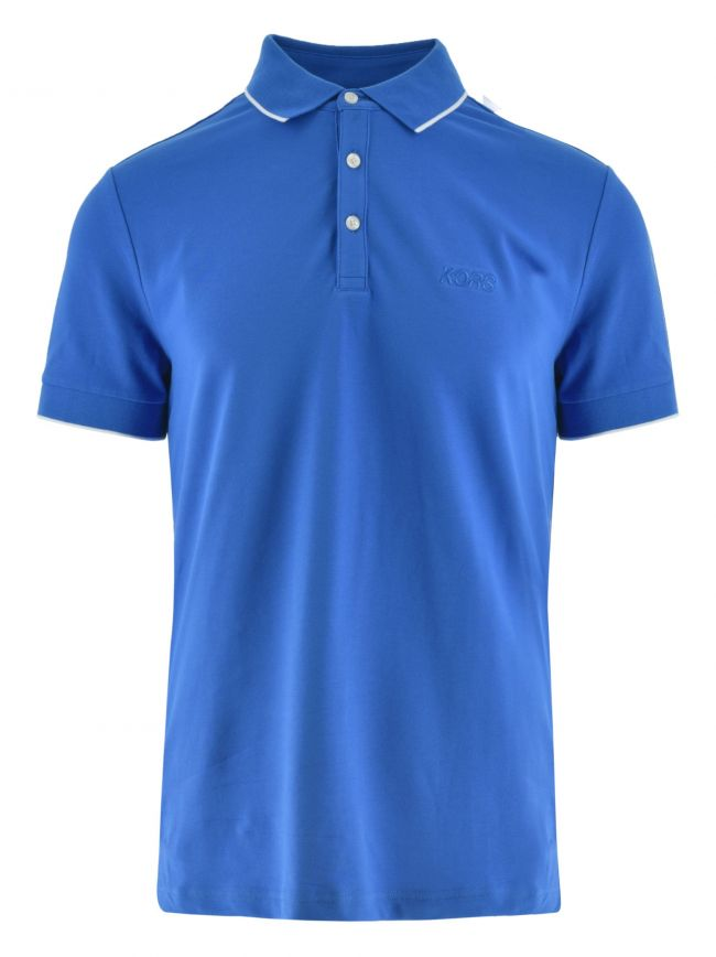 Sky Blue Piped Collar Polo Shirt