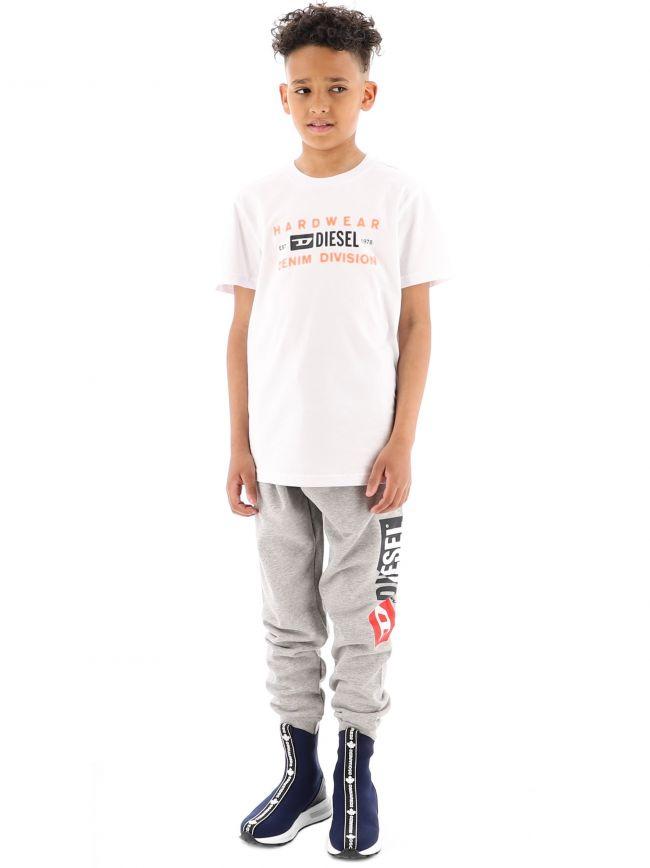 Diesel Kids White T-Diego-SK32 T-Shirt