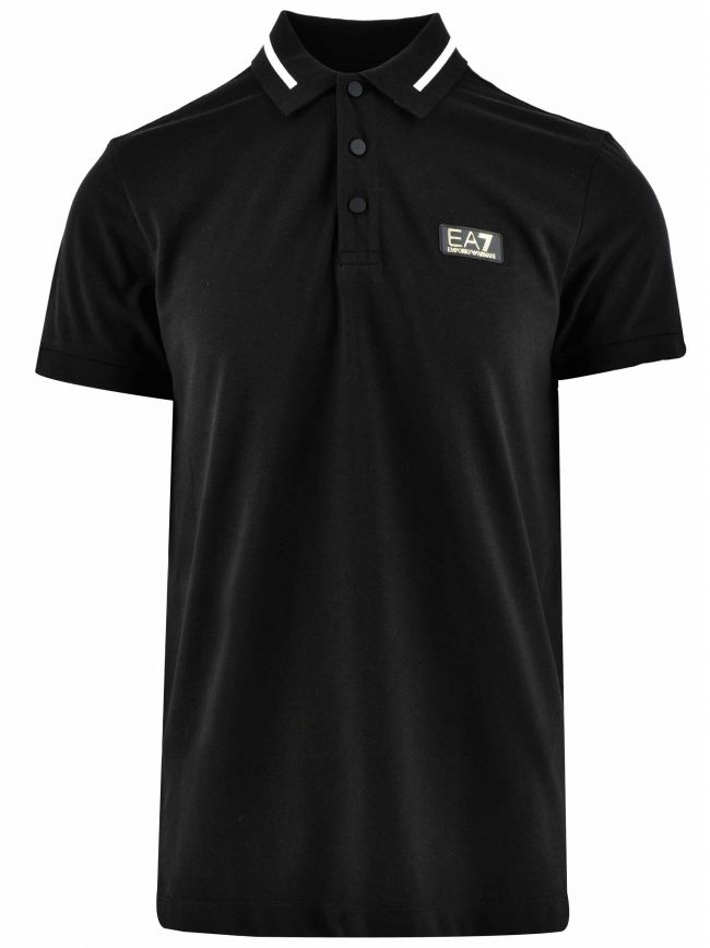 Black & Gold Short Sleeve Polo Shirt