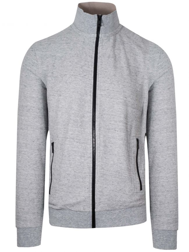 Grey Zaldo Funnel Neck Zip Top