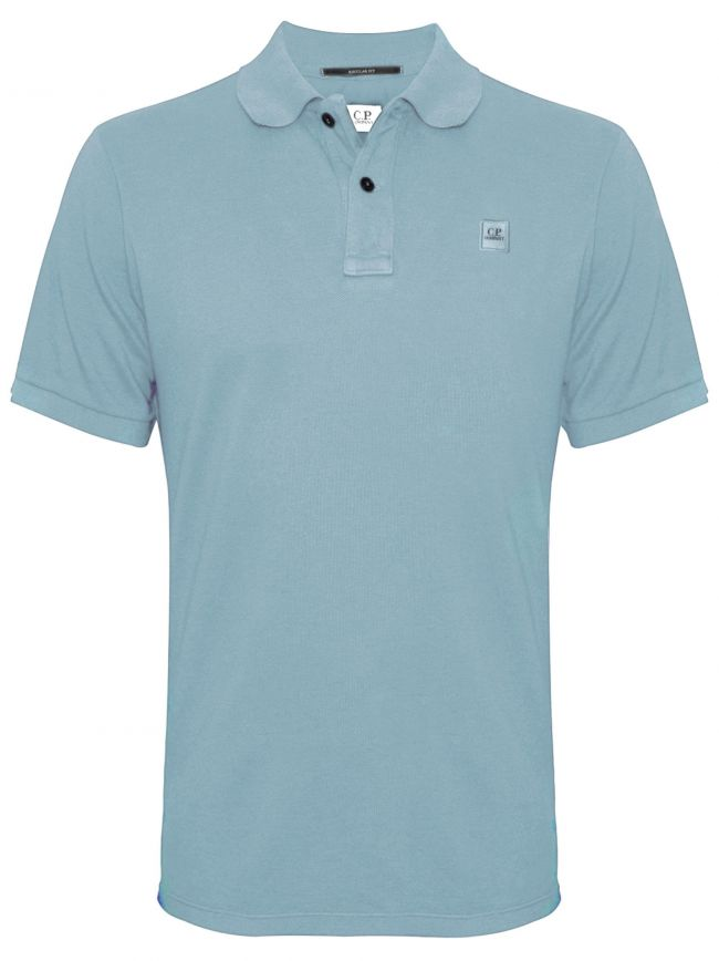 Garment Dyed Sky Blue Polo Shirt