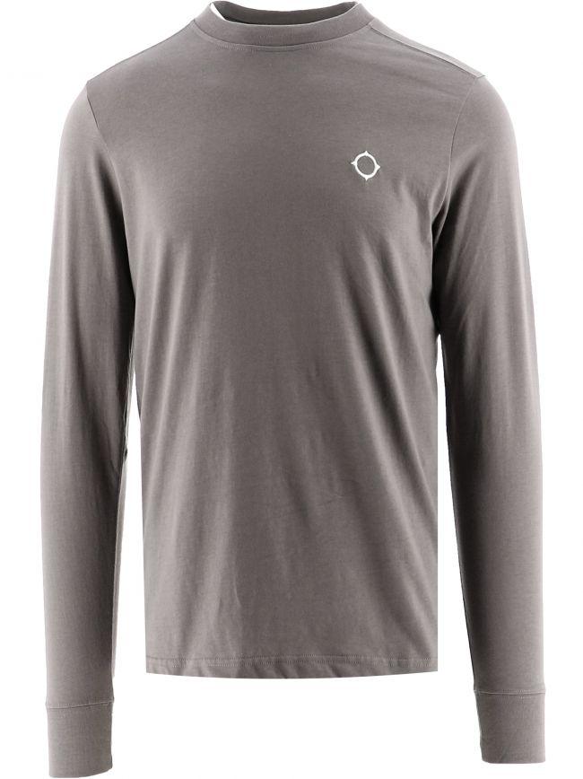 Grey Long Sleeve Icon T-Shirt